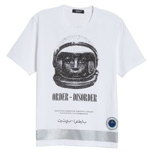 NWT Undercover Reflector Hem Spaceman Tee SZ 2